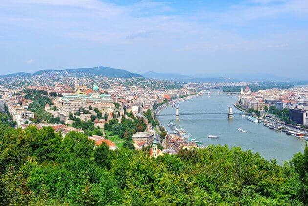 Buda and Pest. Due to the larger amount of people there are more crimes in Pest, then in Buda.