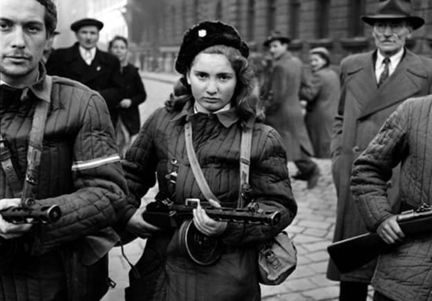 1956 Budapest-Young girl with weapon