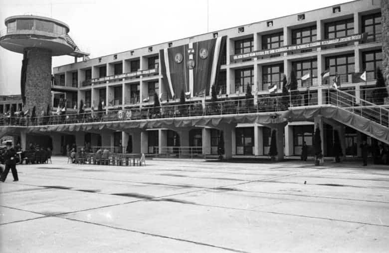 Ferihegy 1950 opening ceremony.