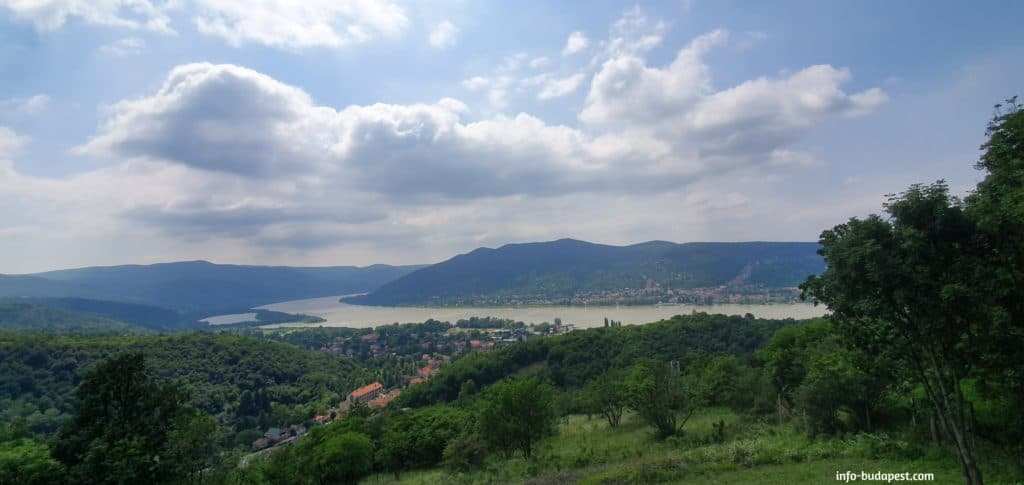 View from Visegrád Mountains and the Danube Bend