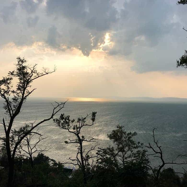 beautiful sunset, Balatonvilágos, cloudy weather