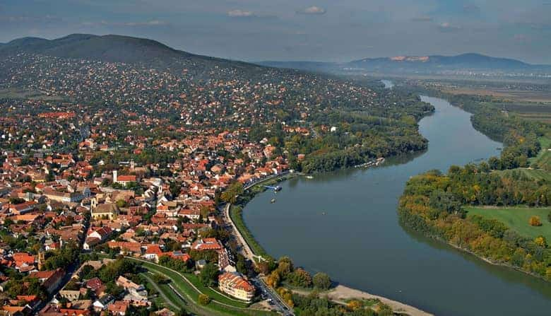 Szentendre bird view