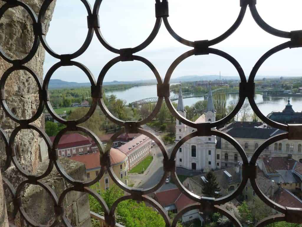 view from Esztergom Castle