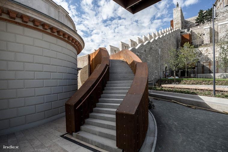 Castle garden staircase