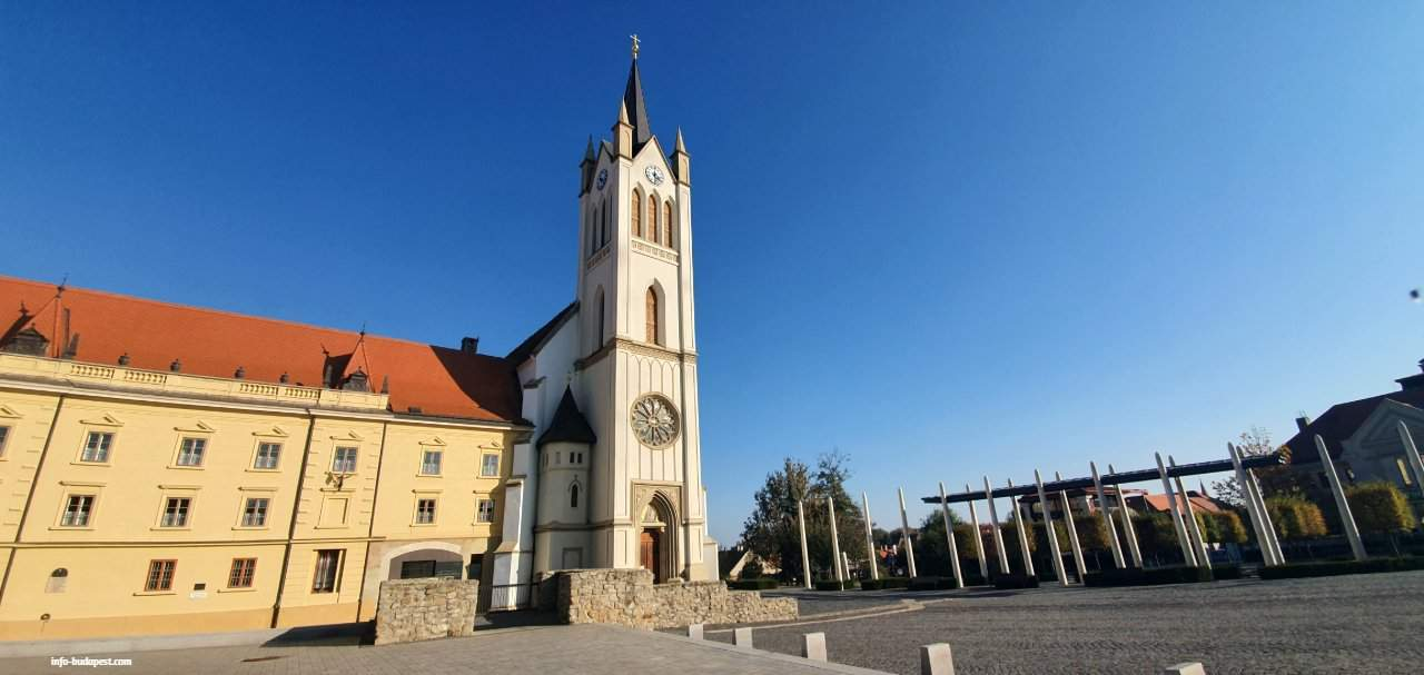 Main Square Parish Church at Keszthely, October 2019
