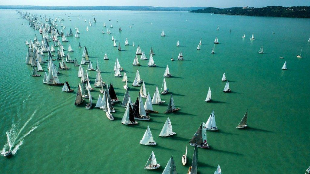 The Blue Ribbon Sailing Race on Lake Balaton