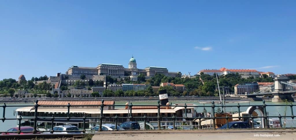 view of Buda Castle from Pest
