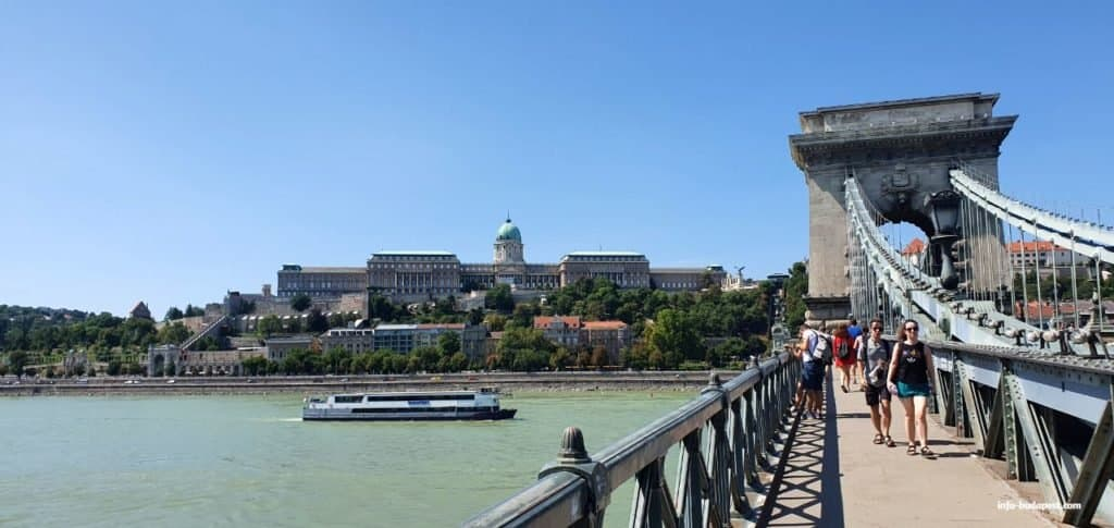 Buda Castle in the background