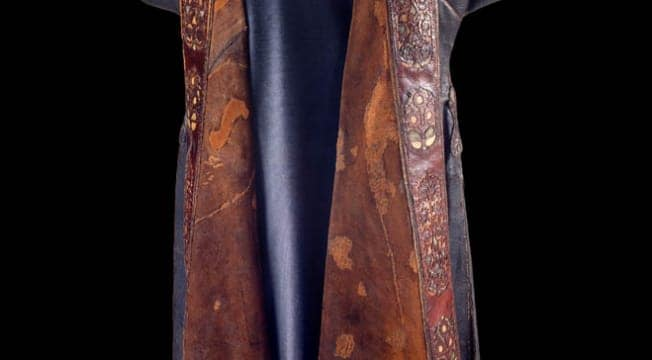 Turkish leather robe