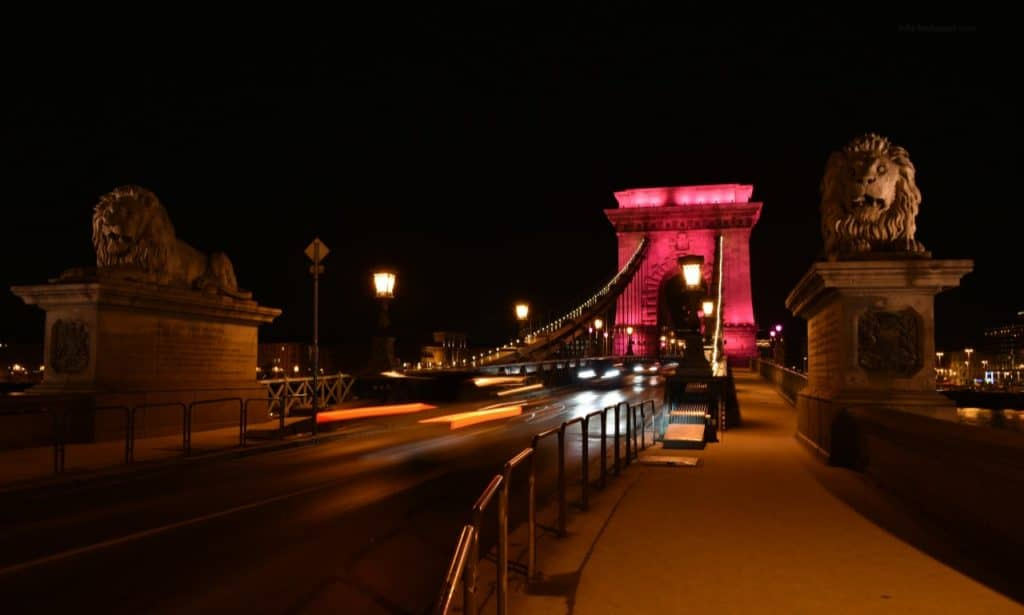 Pink Chain Bridge - photo: info-budapest.com
