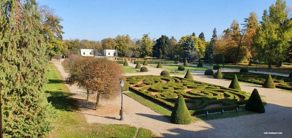 Nagycenk-Széchenyi Mansion, French garden
