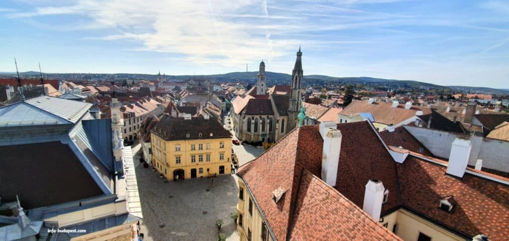 Sopron Main Square-View from Fire Tower