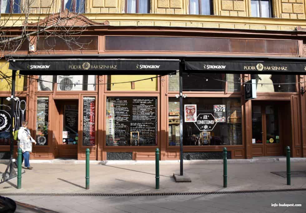 Puder Ruin Bar near Kalvin Square Budapest