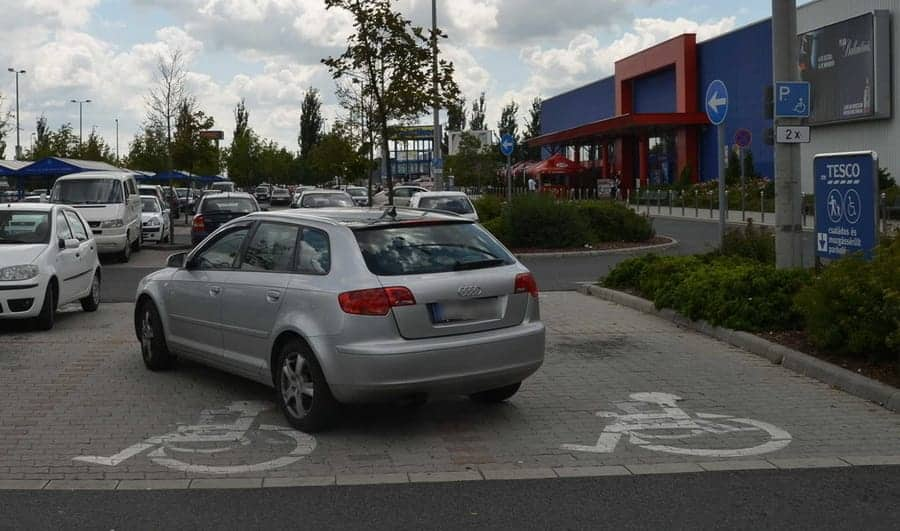 Forgeting to notice disabled parking spaces...