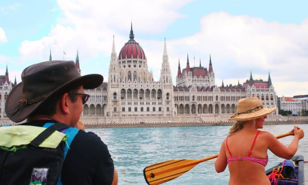 canoeing on the Danube -Budapest