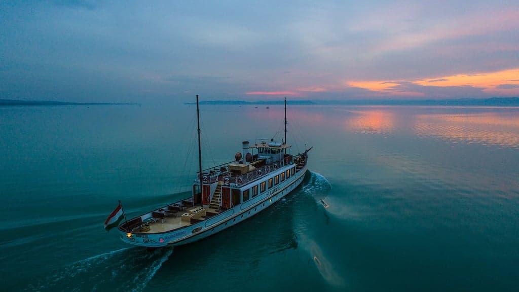 Cruising in Lake Balaton
