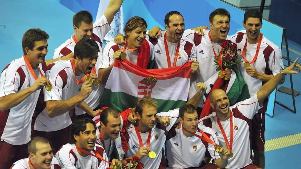 Hungarian water polo team won the Olimpic Games nine times, which is a record.
