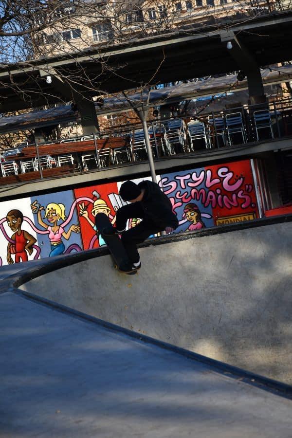 Skate park on elizabeth Square Budapest