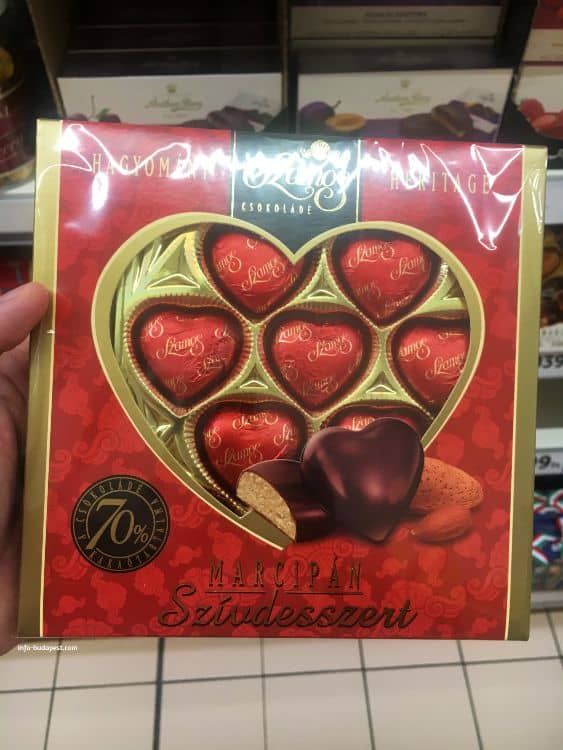 Szamos Marzipan Heart Dessert-good choice for souvenir