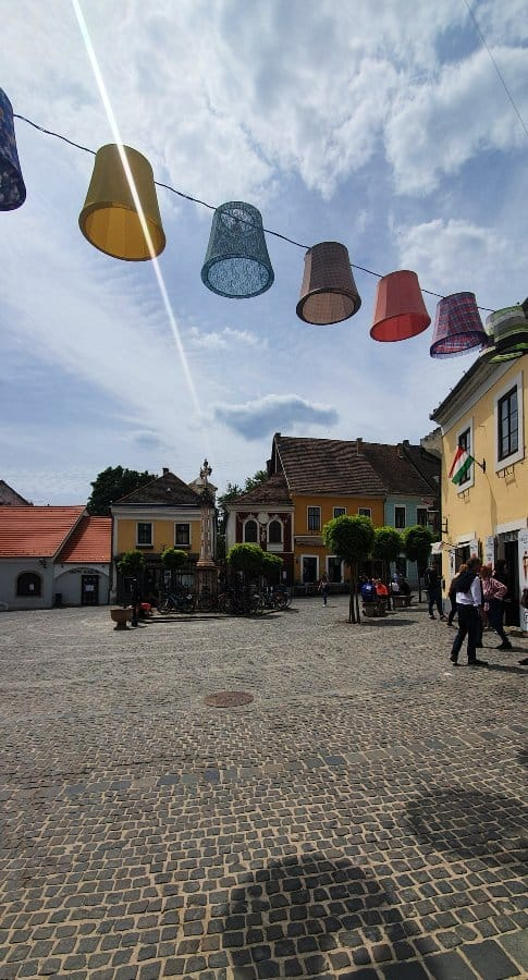 Szentendre sunshine, Main Square, colors