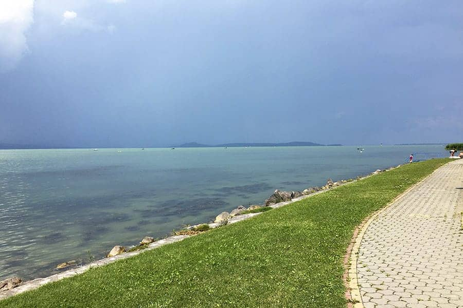 Free beach in Balatonöszöd