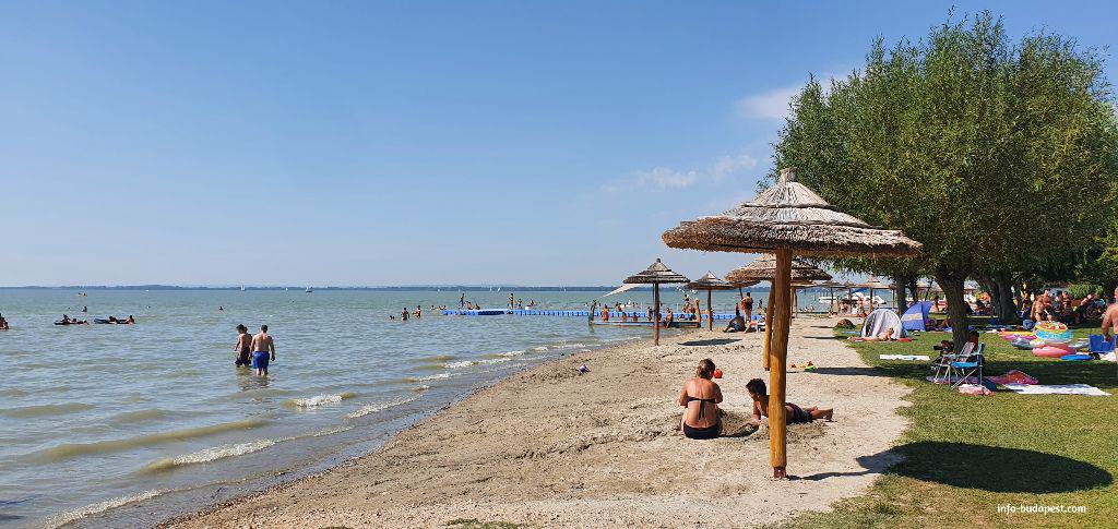 Lido Beach in Vonyarcvashegy is also a great beach around Lake Balaton
