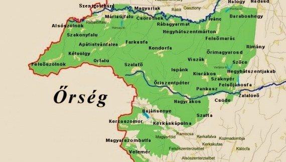 map of Őrség