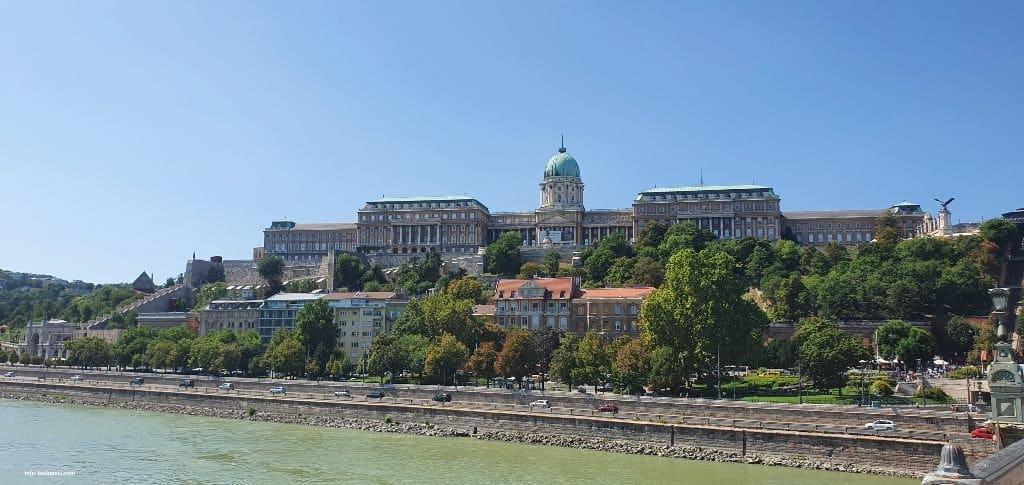 Buda Castle view from Chain Bridge