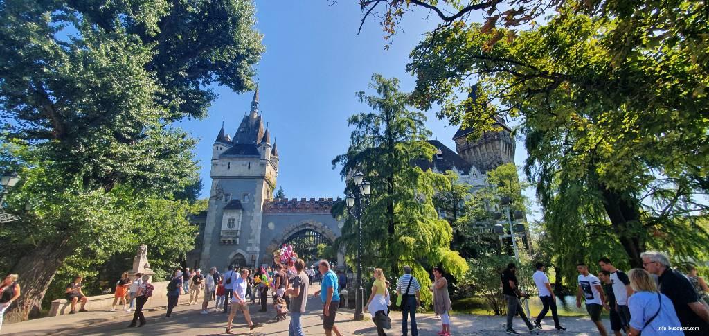 Budapest's famous Vajdahunyad Castle