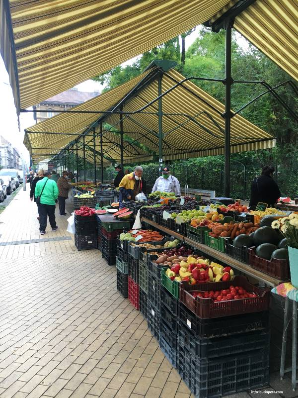Primary producers at Hunyadi Square Market in Budapest
