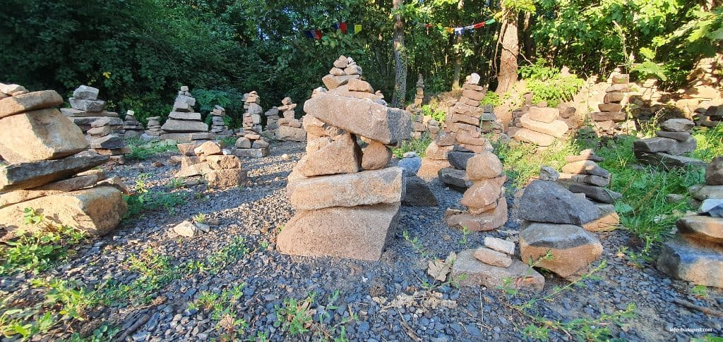 Stone piles in the forest