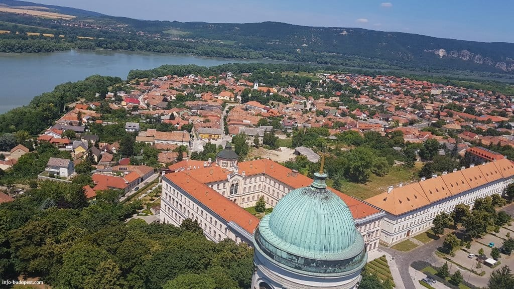 View from the top of Esztergom Basilica