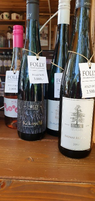 Special wines and syrups of the Folly Arboretum